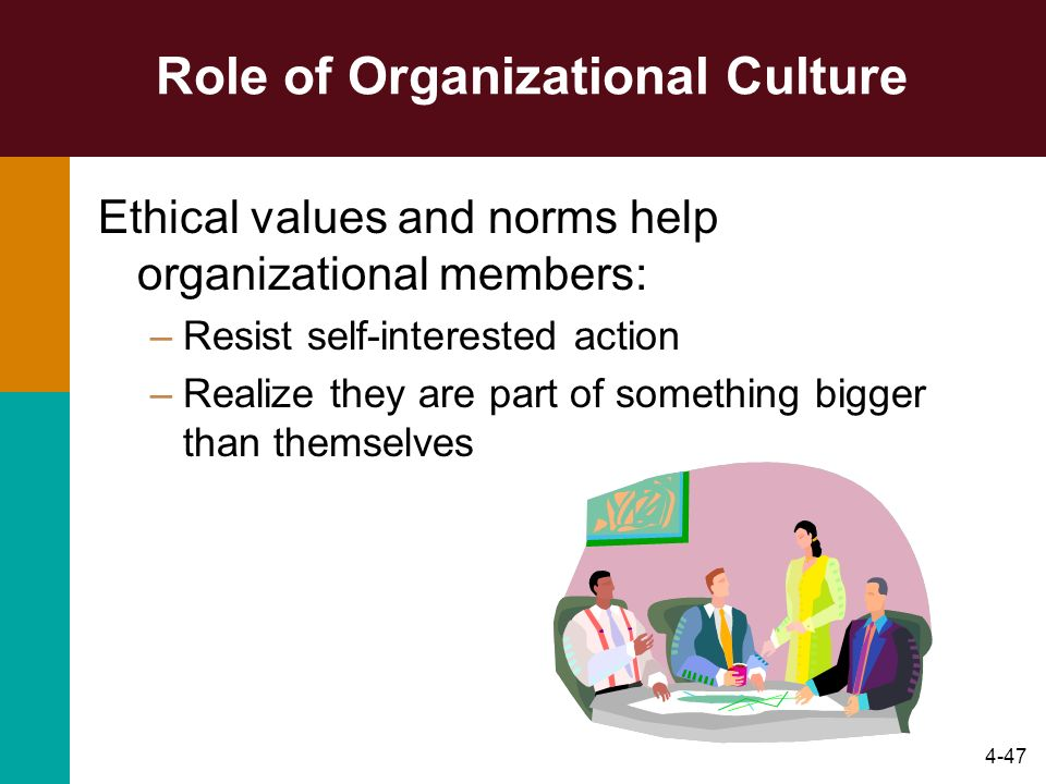 Role of Organizational Culture
