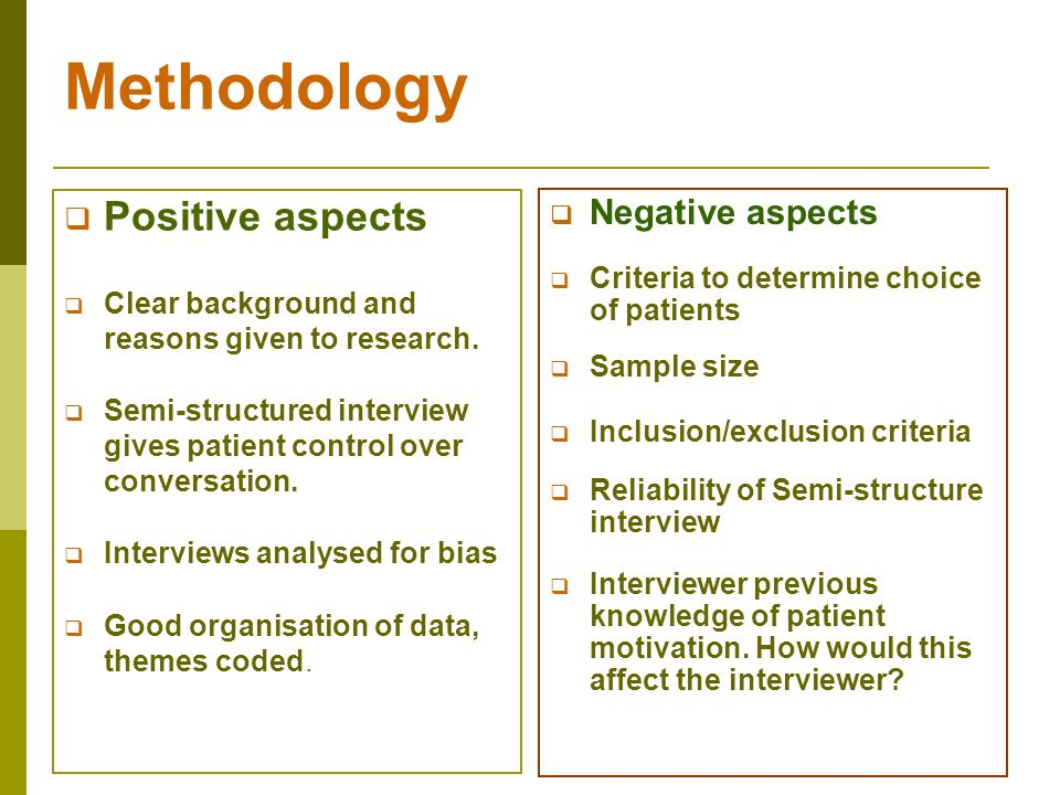 methodology research paper interview