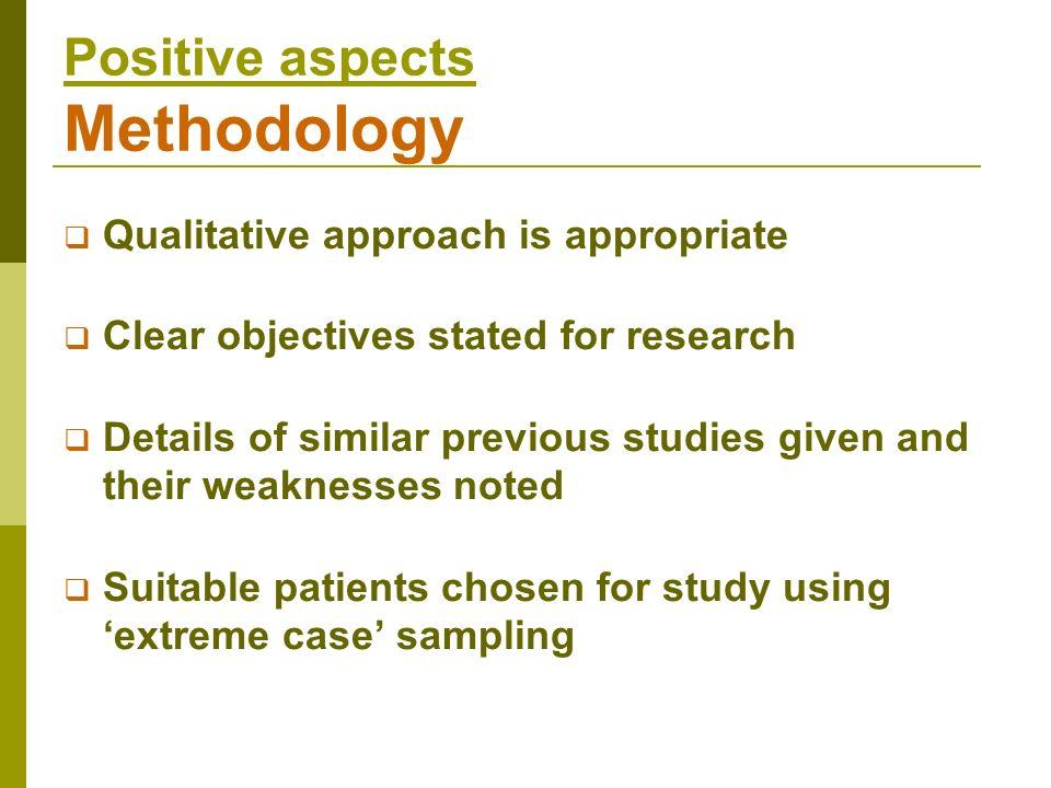 Positive aspects Methodology