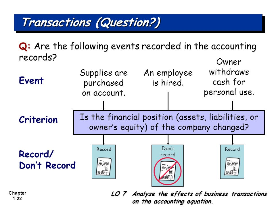 Transactions (Question )