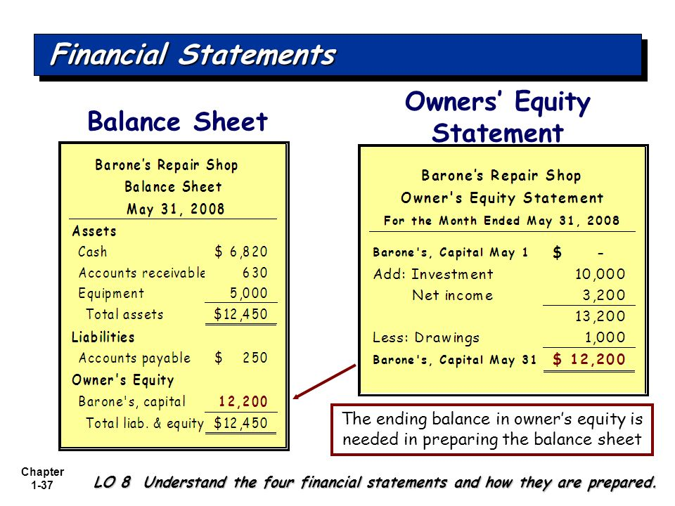 Owners' Equity Statement