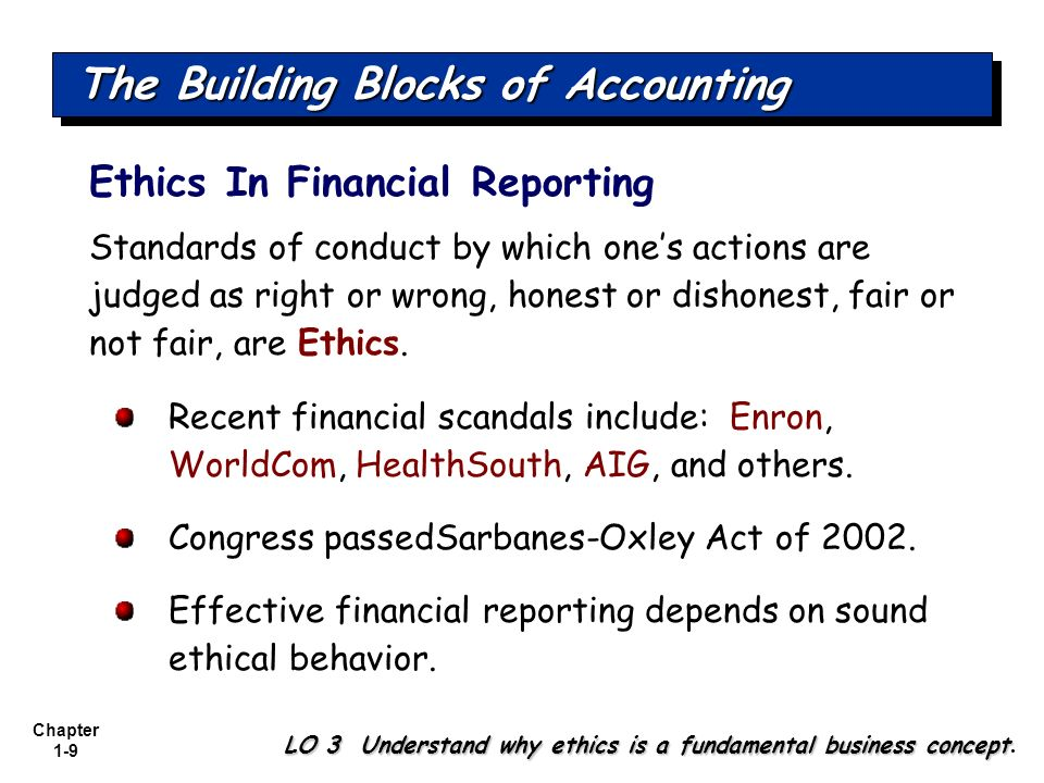 The Building Blocks of Accounting