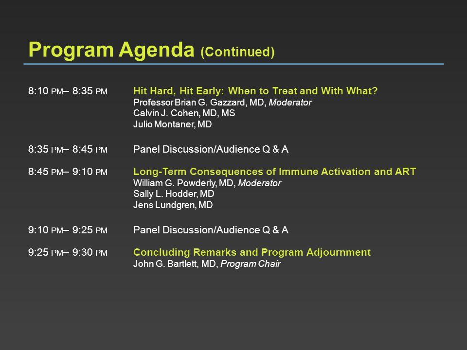 Program Agenda (Continued)