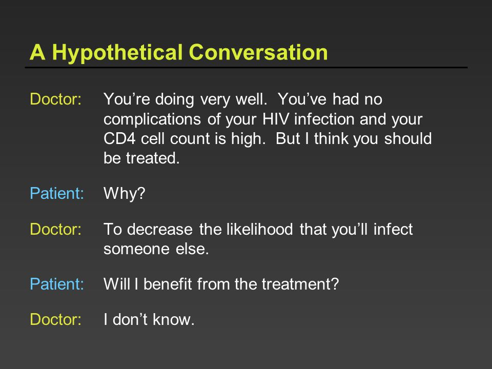 A Hypothetical Conversation