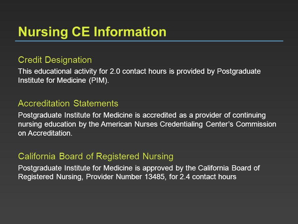 Nursing CE Information
