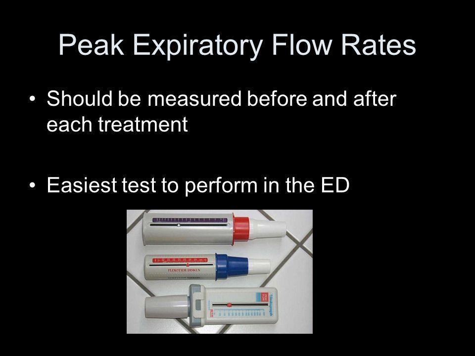 Peak Expiratory Flow Rates