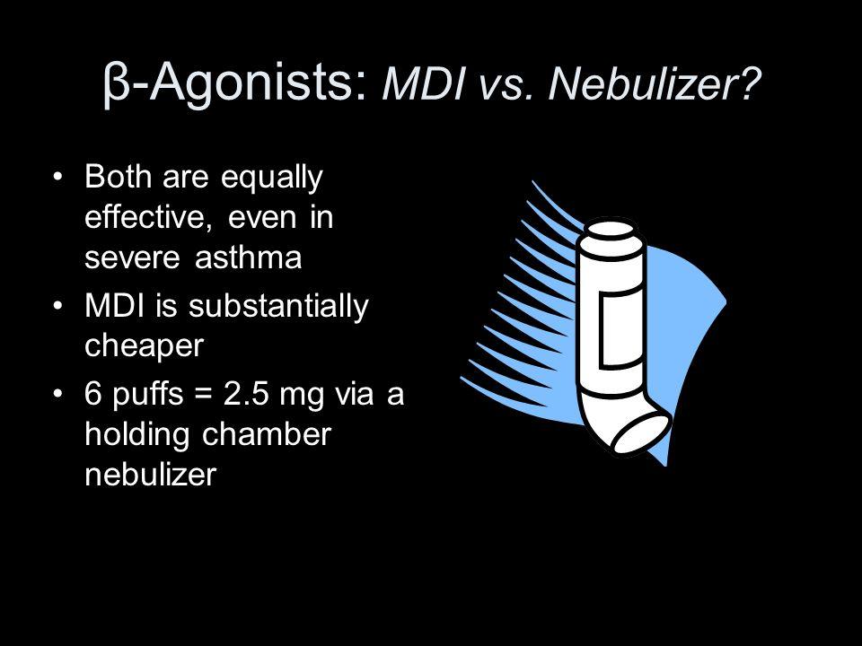 β-Agonists: MDI vs. Nebulizer