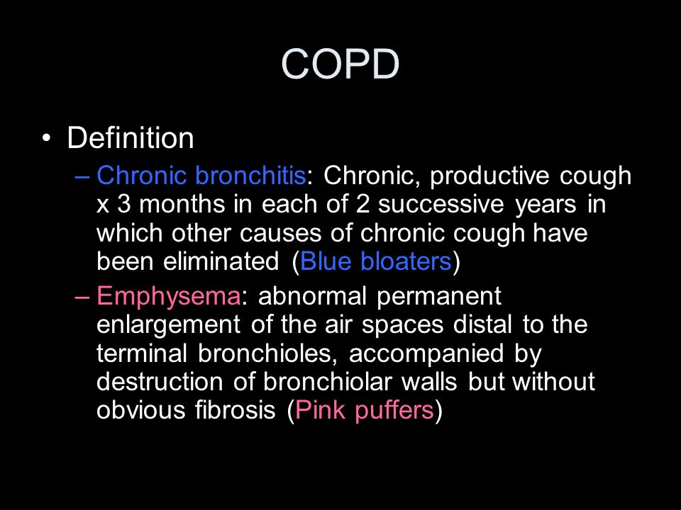 COPD Definition.