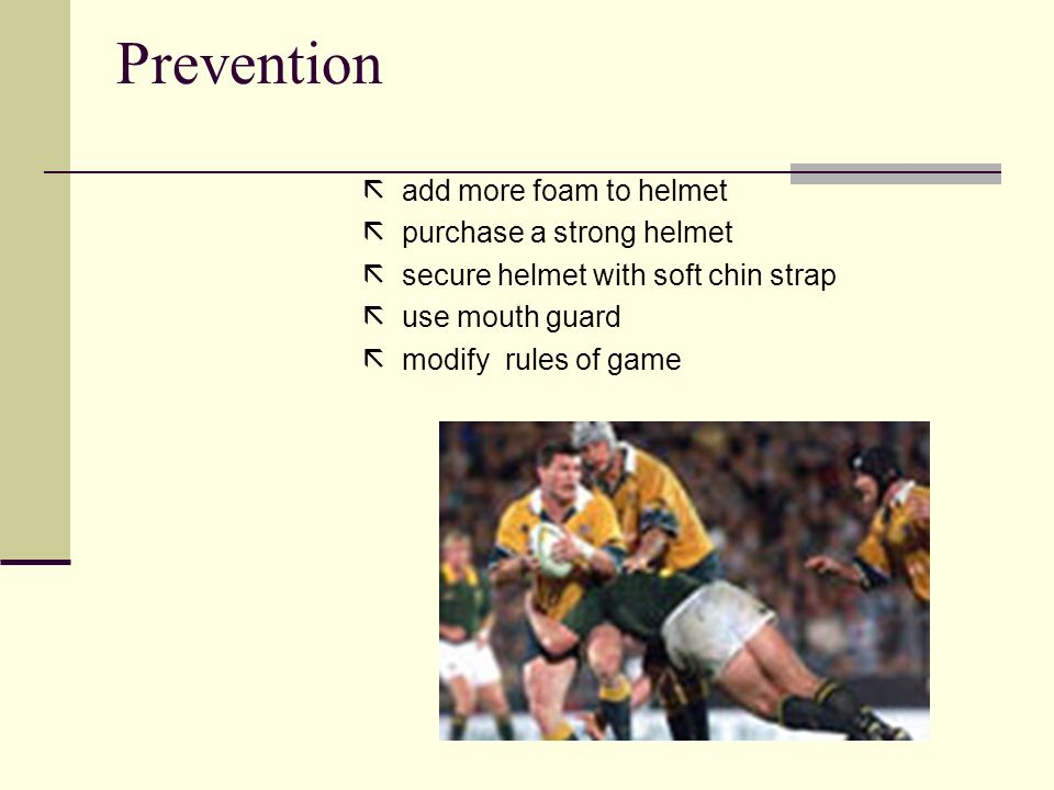 Prevention  add more foam to helmet  purchase a strong helmet