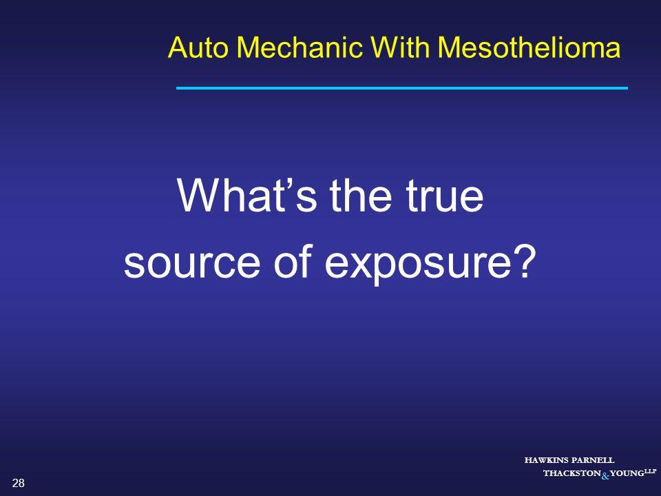 Auto Mechanic With Mesothelioma