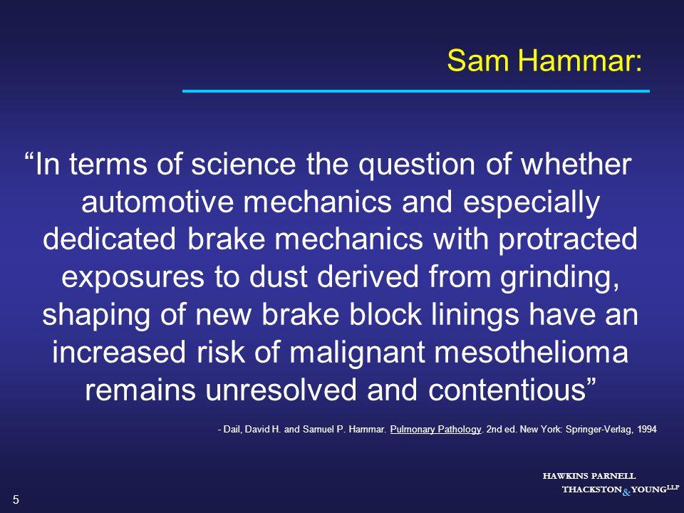 Sam Hammar: