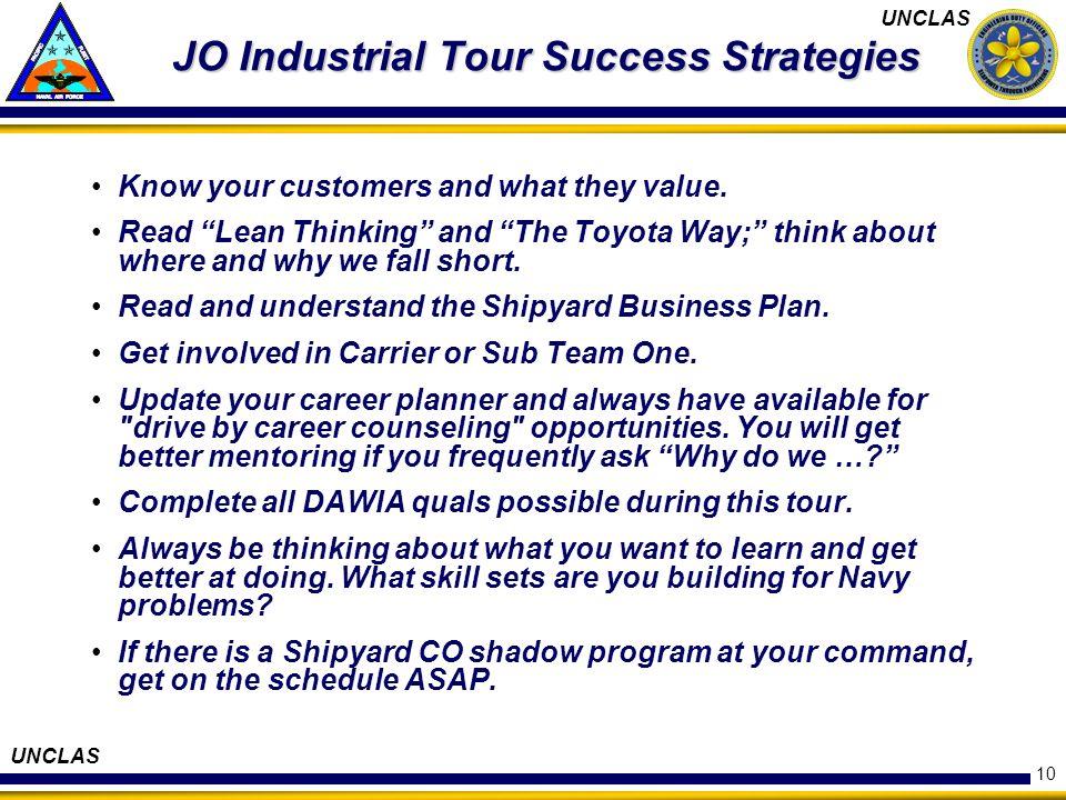 JO Industrial Tour Success Strategies