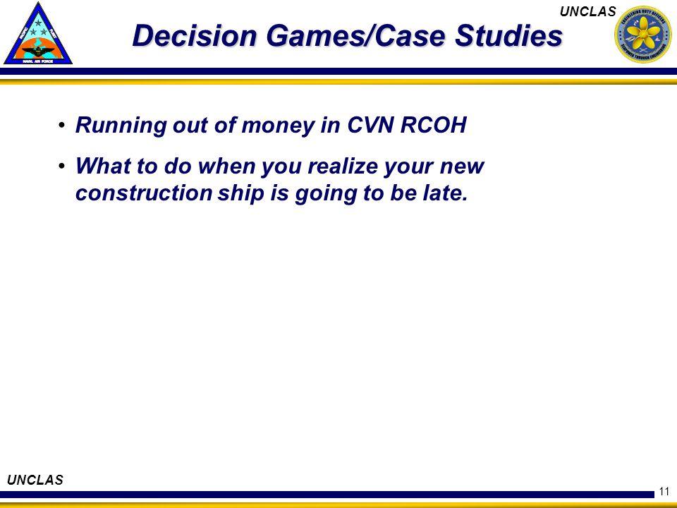 Decision Games/Case Studies
