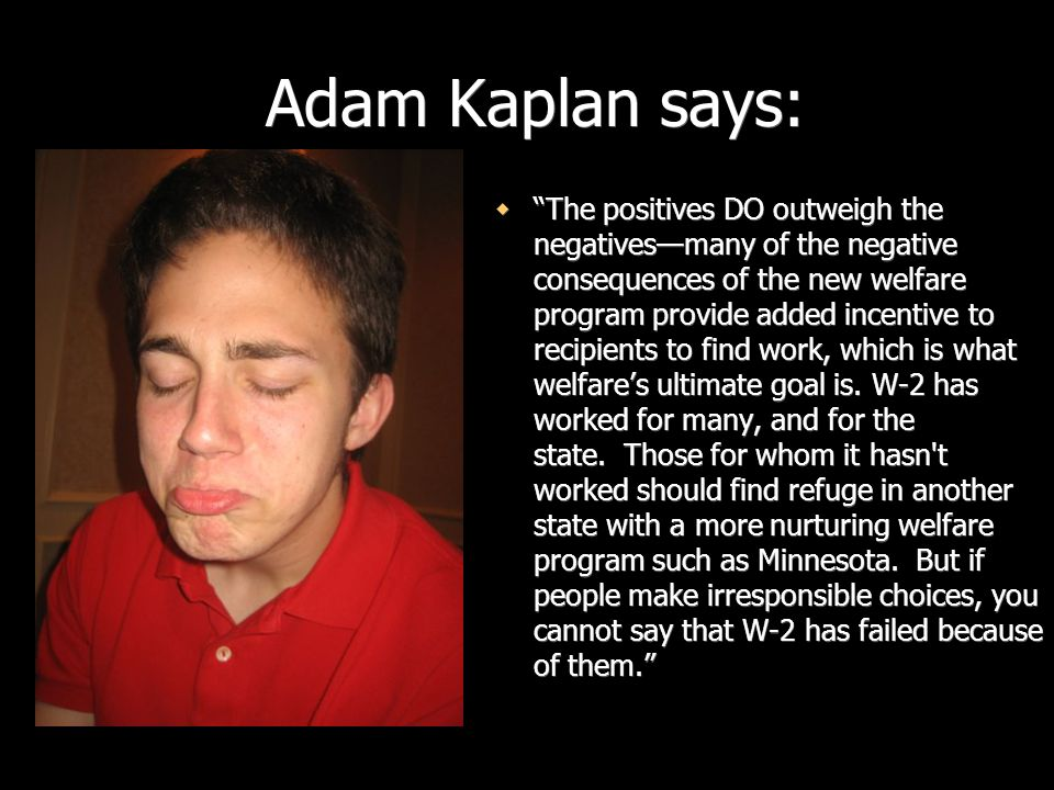 Adam Kaplan says: