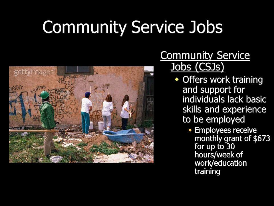 Community Service Jobs