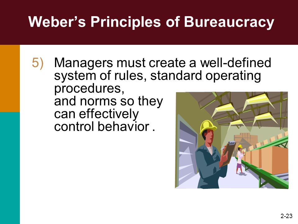 Weber's Principles of Bureaucracy