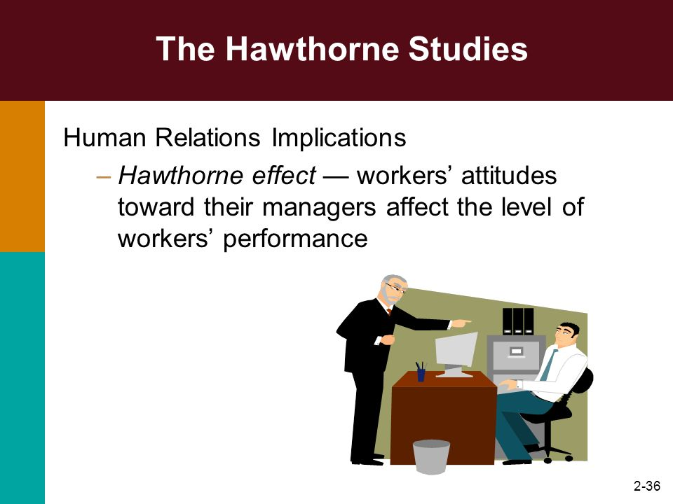 The Hawthorne Studies Human Relations Implications