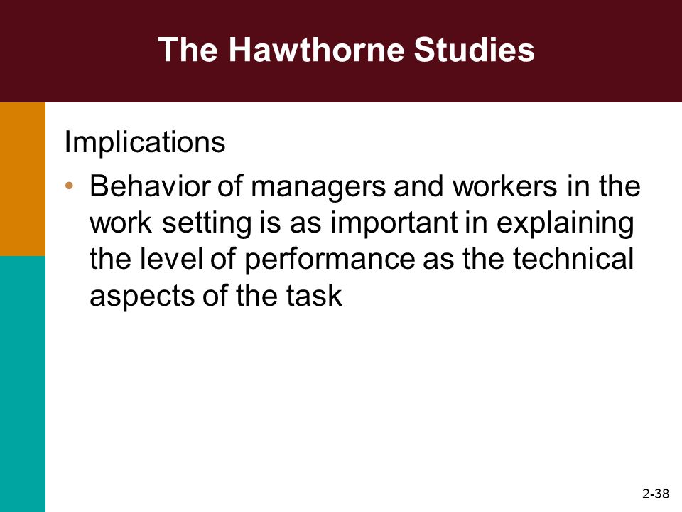 The Hawthorne Studies Implications