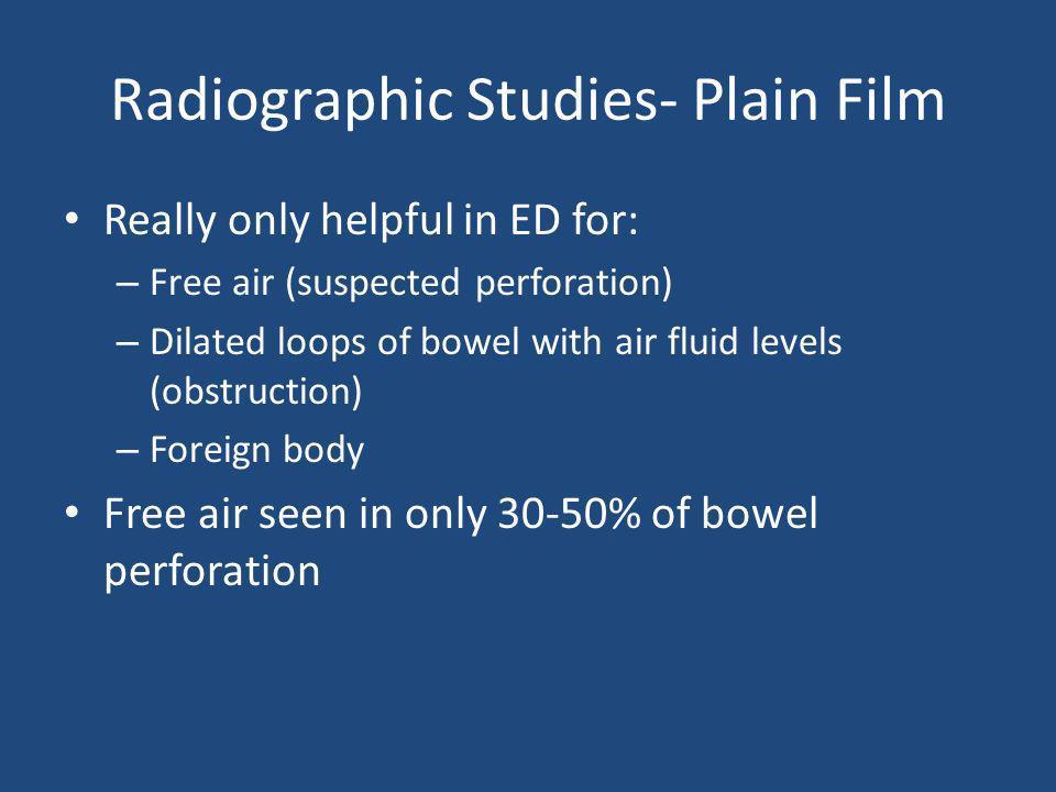 Radiographic Studies- Plain Film