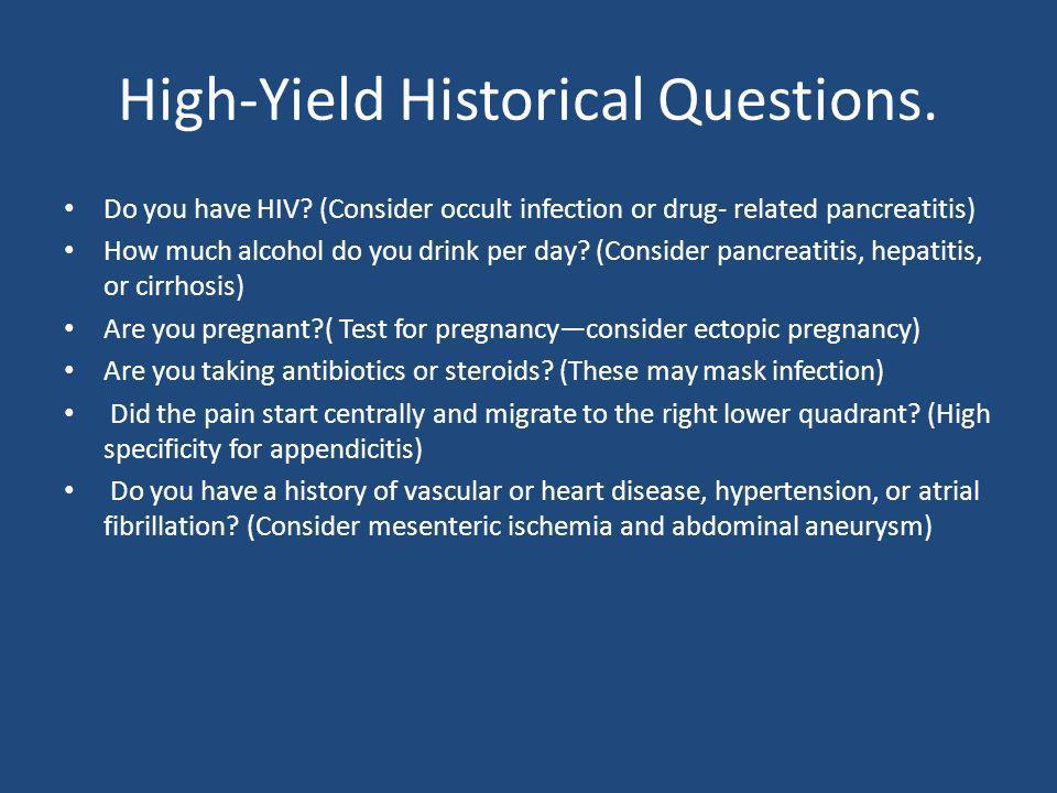 High-Yield Historical Questions.