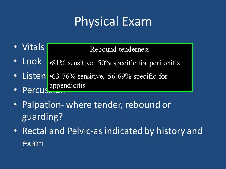 Physical Exam Vitals Look Listen Percussion