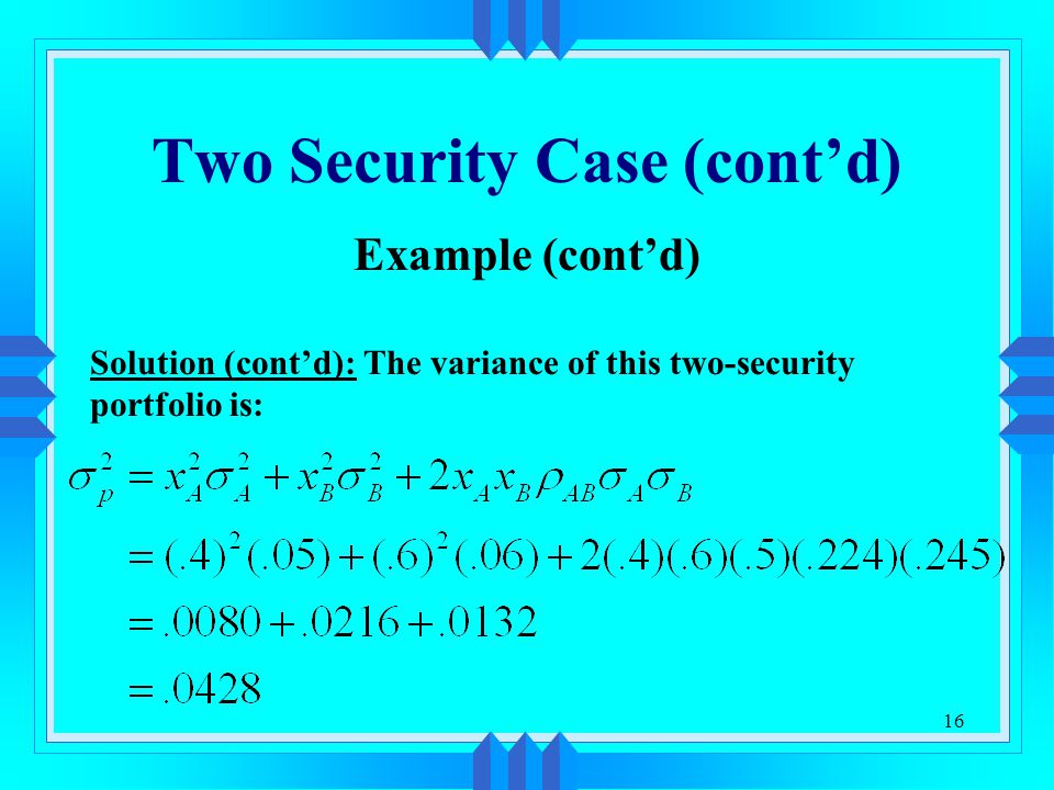 Two Security Case (cont'd)