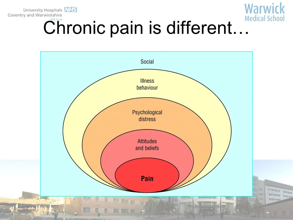 Chronic pain is different…