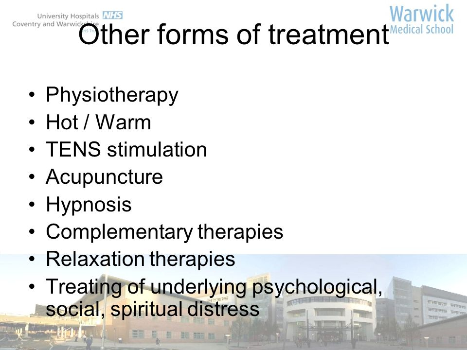Other forms of treatment