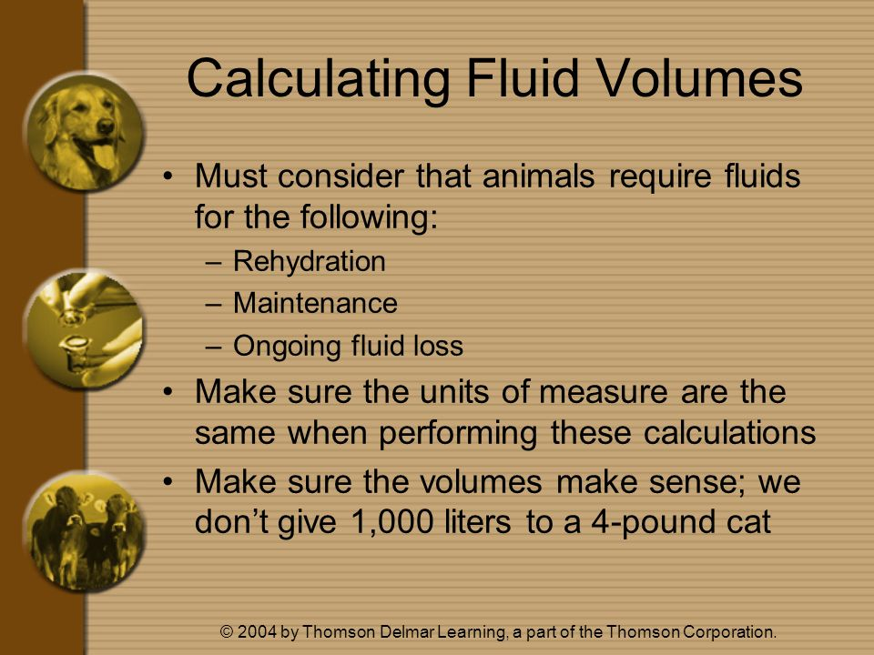 Calculating Fluid Volumes