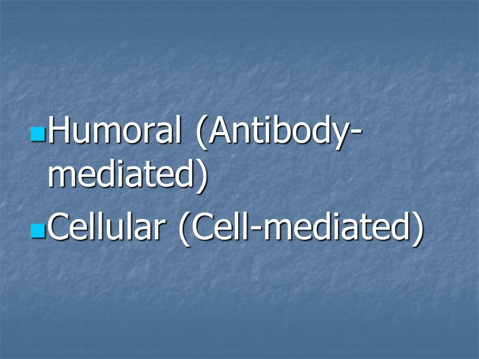 Humoral (Antibody-mediated)