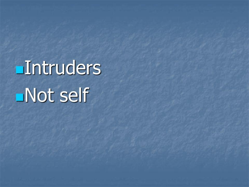 Intruders Not self