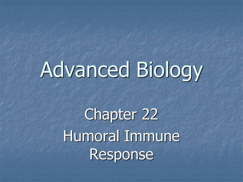 Chapter 22 Humoral Immune Response