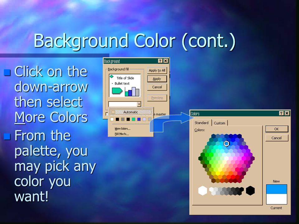 Background Color (cont.)