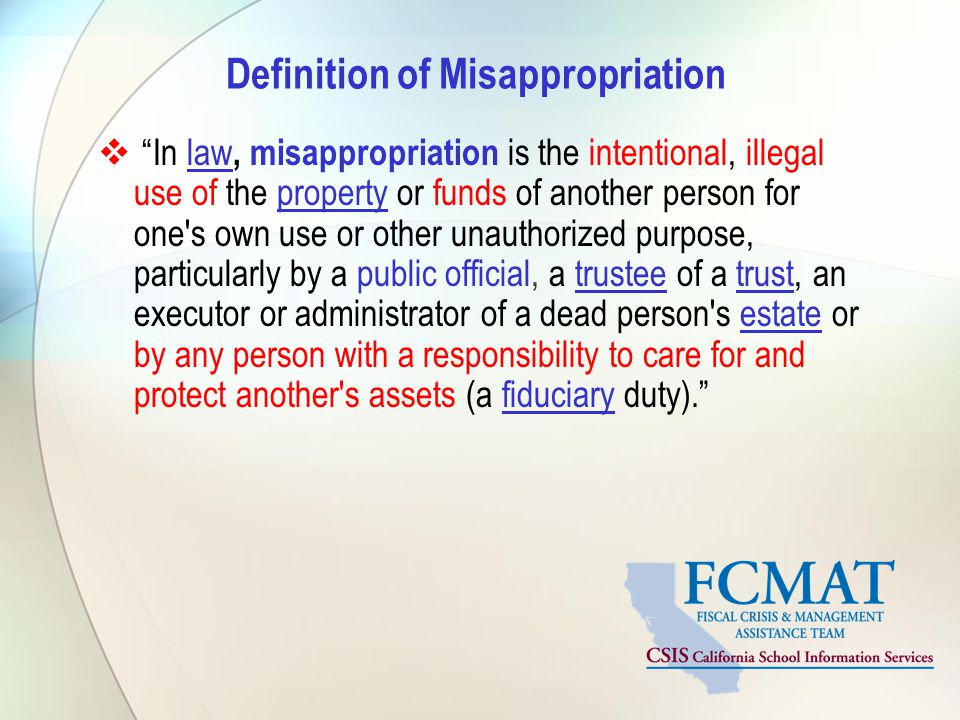 Definition of Misappropriation