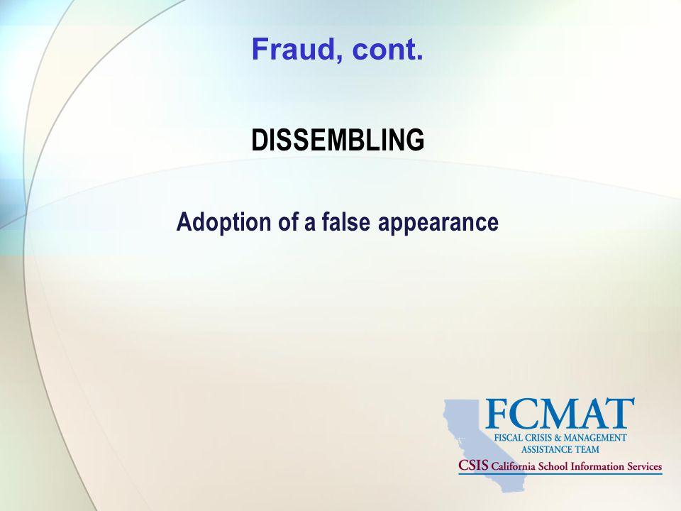 Adoption of a false appearance