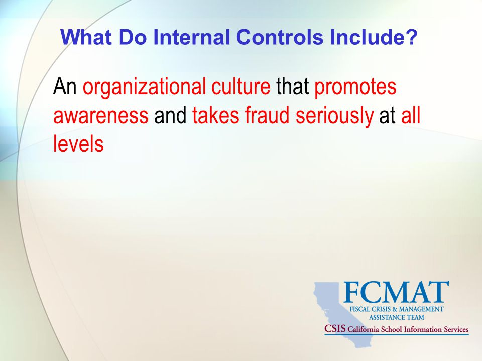 What Do Internal Controls Include