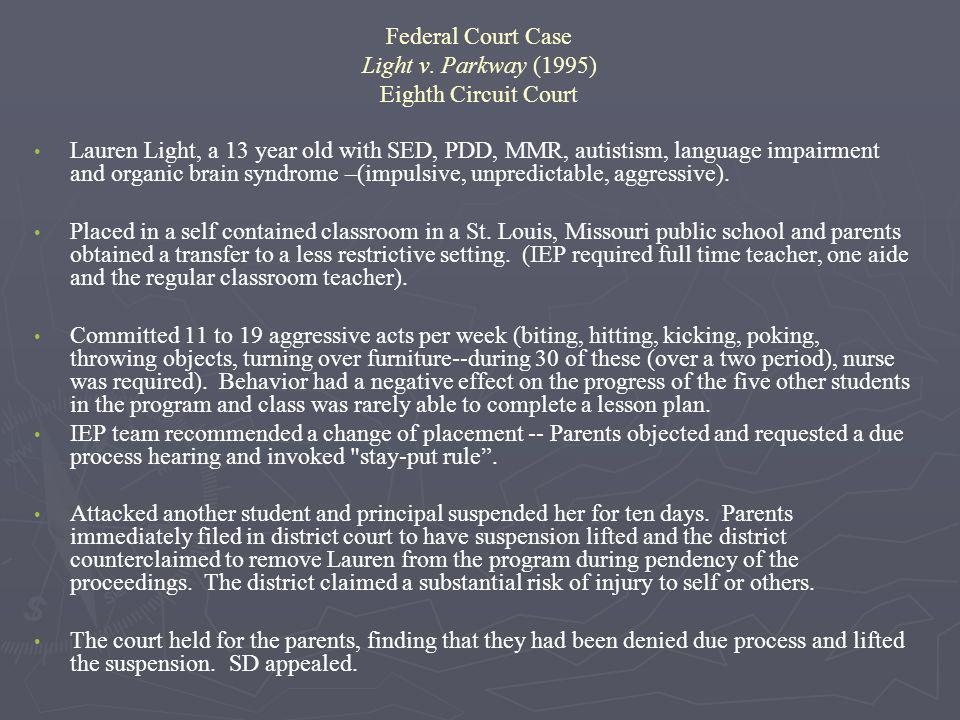 Federal Court Case Light v. Parkway (1995) Eighth Circuit Court