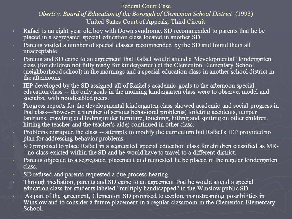 Federal Court Case Oberti v