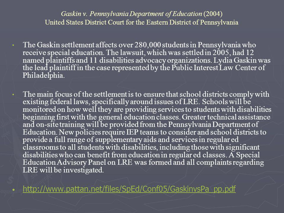 special education litigation and law