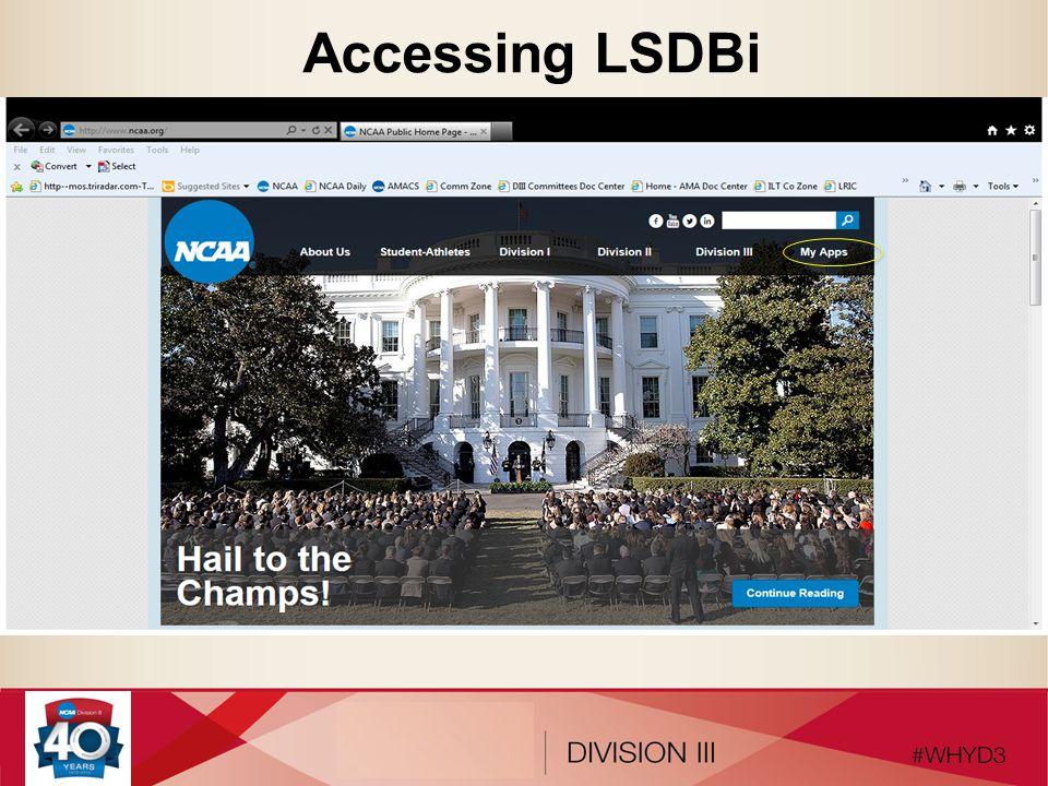 Accessing LSDBi