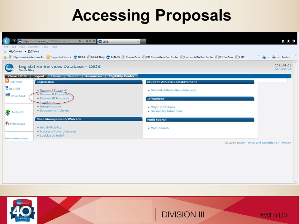 Accessing Proposals