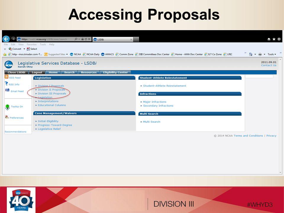 Accessing Proposals