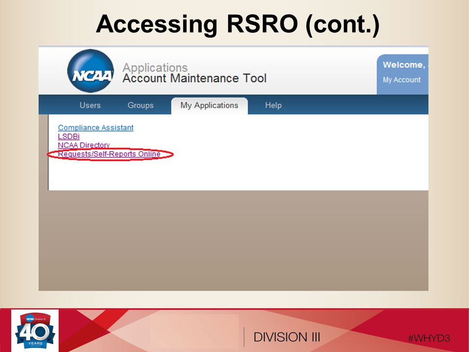Accessing RSRO (cont.)