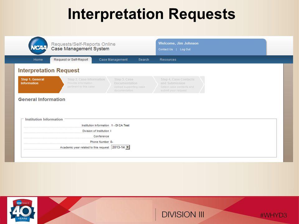 Interpretation Requests