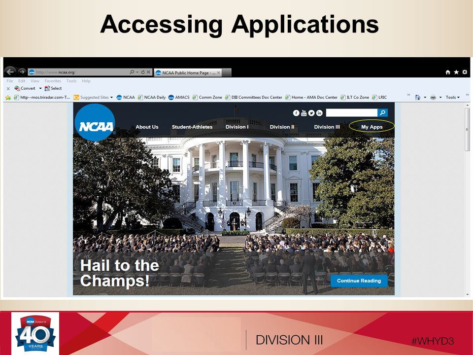 Accessing Applications