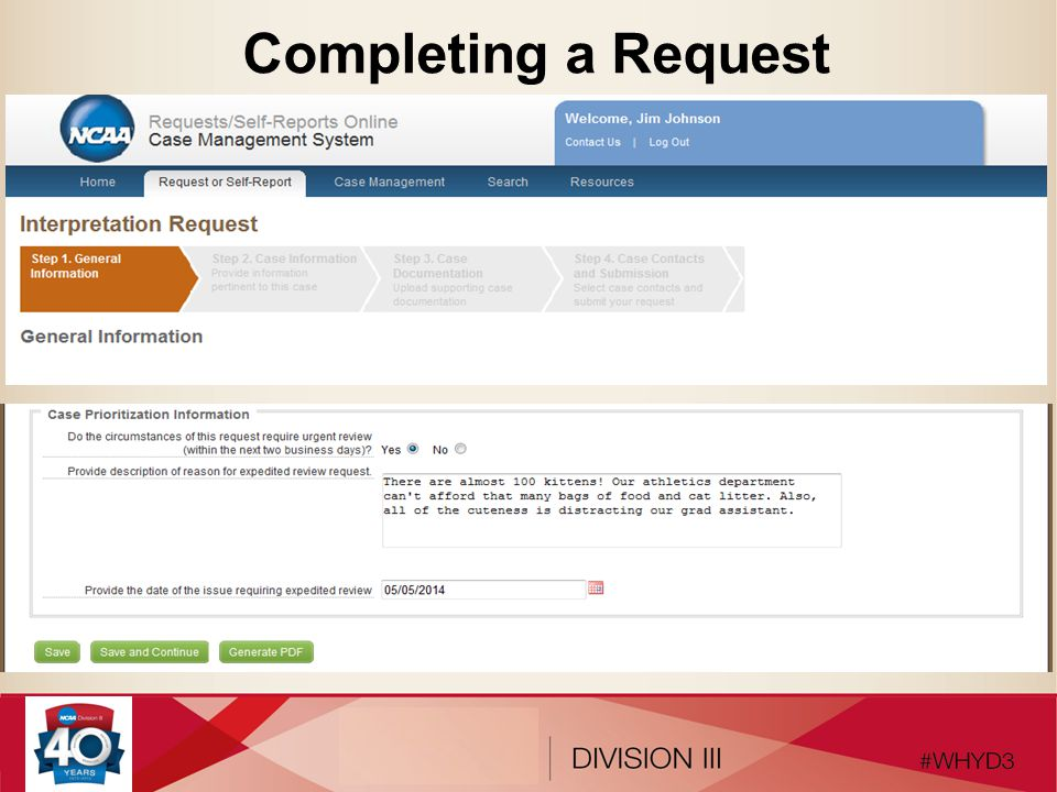 Completing a Request