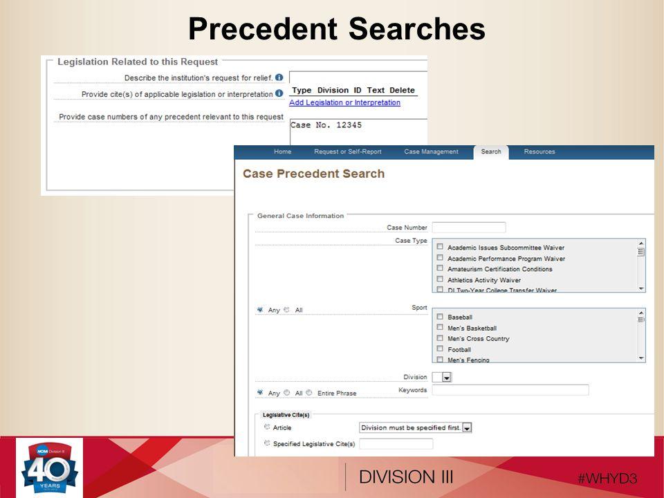 Precedent Searches
