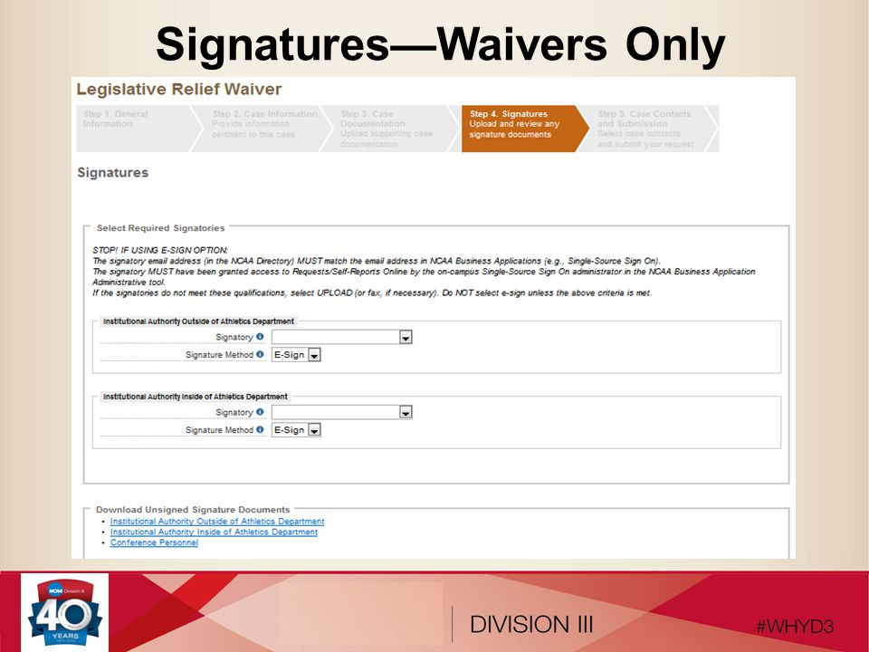 Signatures—Waivers Only