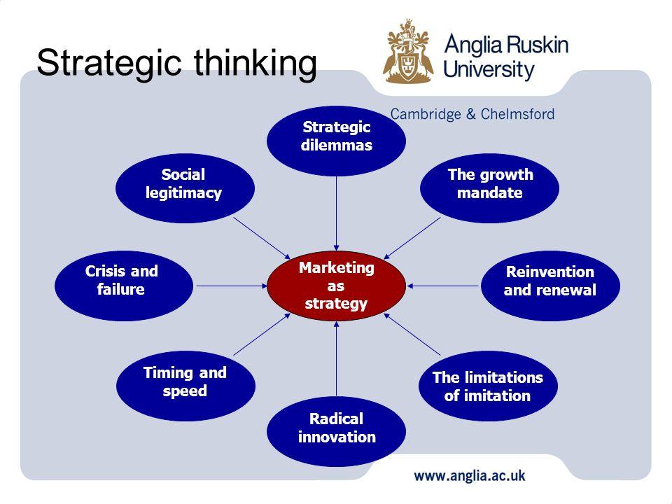 Strategic thinking Strategic dilemmas Social legitimacy The growth