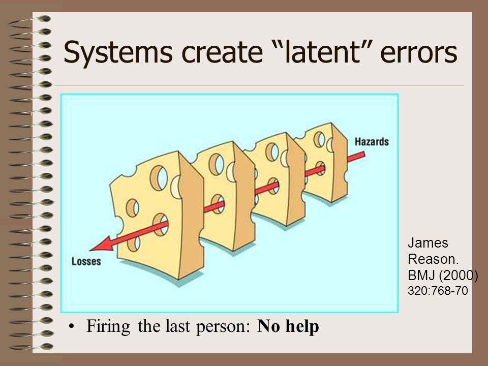 Systems create latent errors